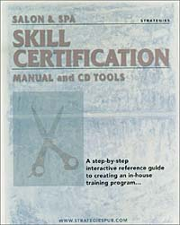 Salon & Spa Skill Certification Manual and CD Tools and increased consistency of delivery инфо 2405m.